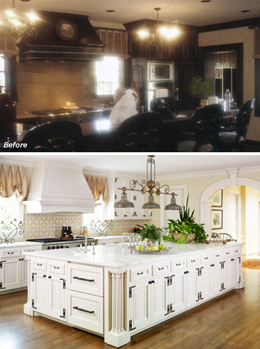 A Colonial kitchen restoration.  Photo credit: www.brenthullcompanies.com