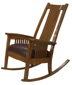 Find plans for this Craftsman Style Rocking Chair on Epic Woodworking